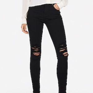 Express high rise leggings jeans 6